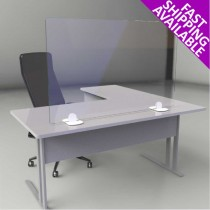 Freestanding Glass Desk Screen Guard