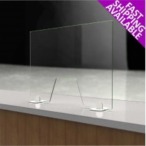 Freestanding Clear Glass Screen Guard