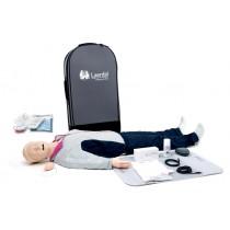 Laerdal Resusci Anne QCPR AED Airway Head Full Body with Trolley Bag