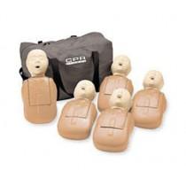 Extra Manikin Head Packs - Adult/Child Manikin Heads, 5-pack - Tan