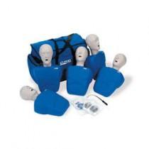 Extra Manikin Head Packs - Adult/Child Manikin Heads, 5-pack - Blue
